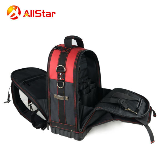 2018 Hot Sale Electrician Polyester Tool Bag Backpack with Many Pockets Tool  Kit 643f107bc9
