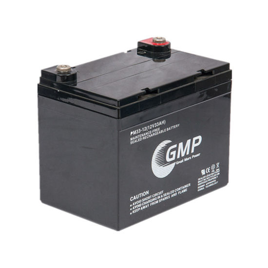 Good Quality UPS Batteries 12V 33ah with Round Button Terminal pictures & photos