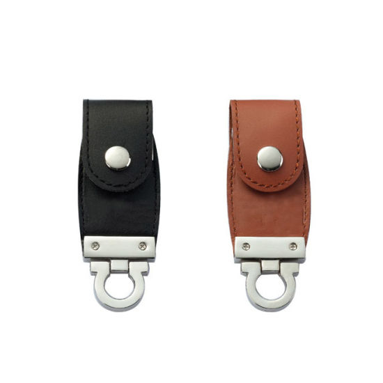 Wholesale Promotional Leather USB Flash Drive with Customized Logo