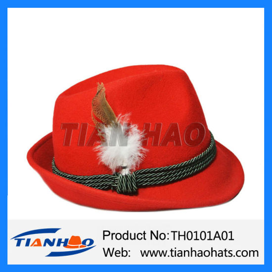 aade3a7ae China Adult Felt German Alpine Bavarian Oktoberfest Hat - China ...