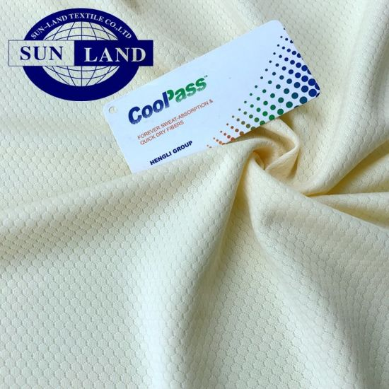 100% Coolpass Polyester Hexagonal Knit Mesh Summer Anti-Mosquito Finished Fabric pictures & photos