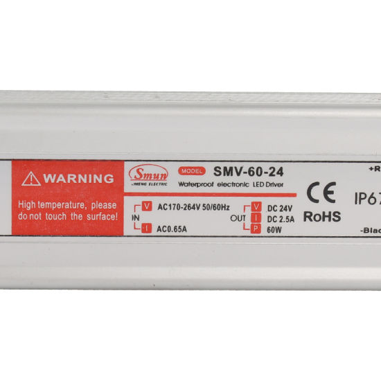 Smv-60-24 60W 24VDC 2.5A Waterproof IP67 Constant Voltage LED Driver pictures & photos