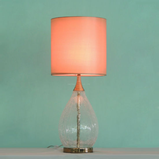 China Classical Modern Style Blow Bubble Glass Table Lamp For