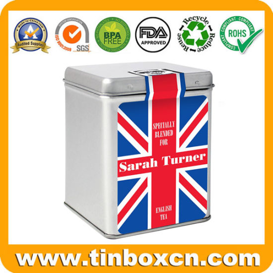 Food Grade Metal Square Tea Tin Cans Tea Container pictures & photos