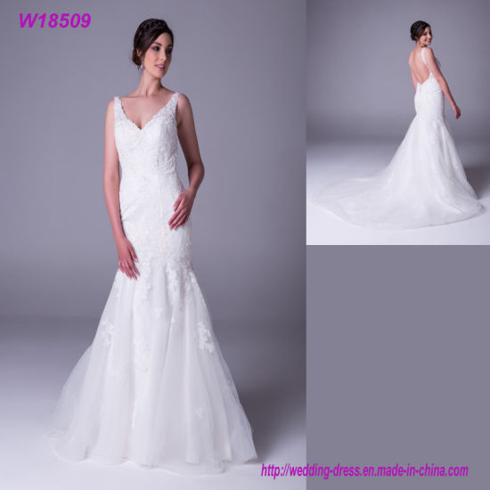 China Adults Age Group And Shanny Design Wedding Dress Fat Woman