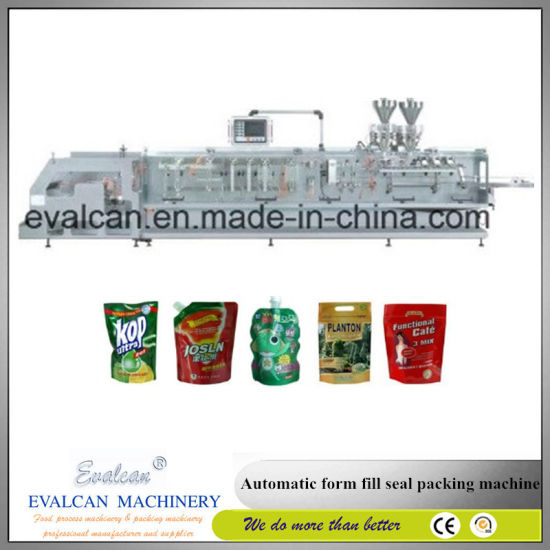 Horizontal Automatic Doy Pack Stand up Pouch Filling Sealing Packing Machine for Liquid pictures & photos