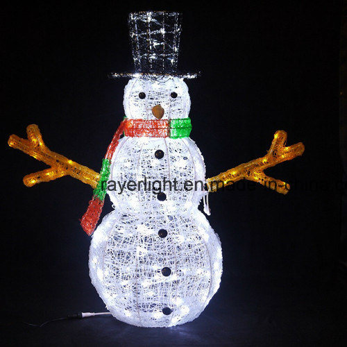 Factory Holiday Time Outdoor LED Snowman X'mas Light