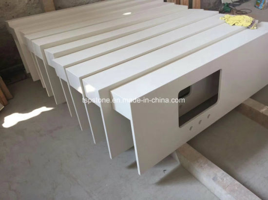 Pure White Quartz Slab for Countertops/Worktops/Vanity Top pictures & photos
