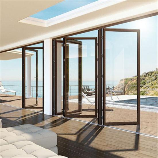 china aluminium glass folding door design aluminium sliding door