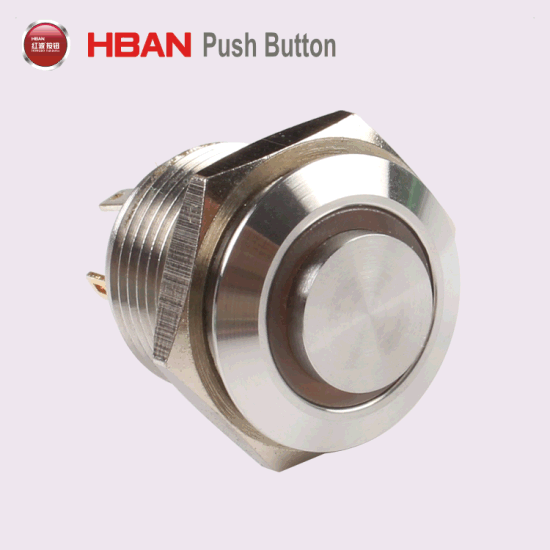 16mm Vandalproof Metal LED Electric Push Button Switch