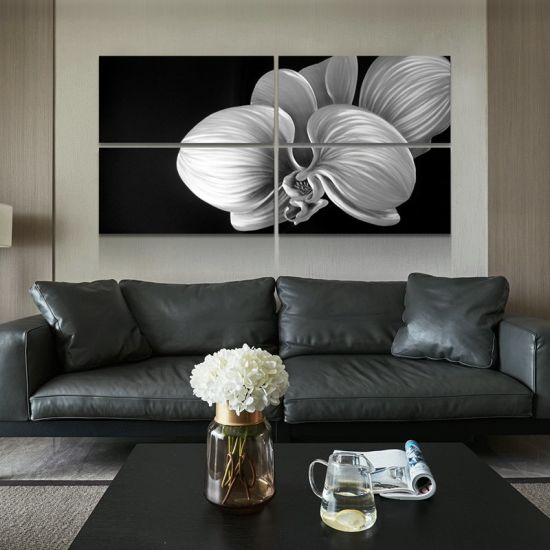 China Flower Blossom 3d Metal Oil Painting For Modern Interior Home Decoration Black White Colors China Natural Painting And Home Decor Price