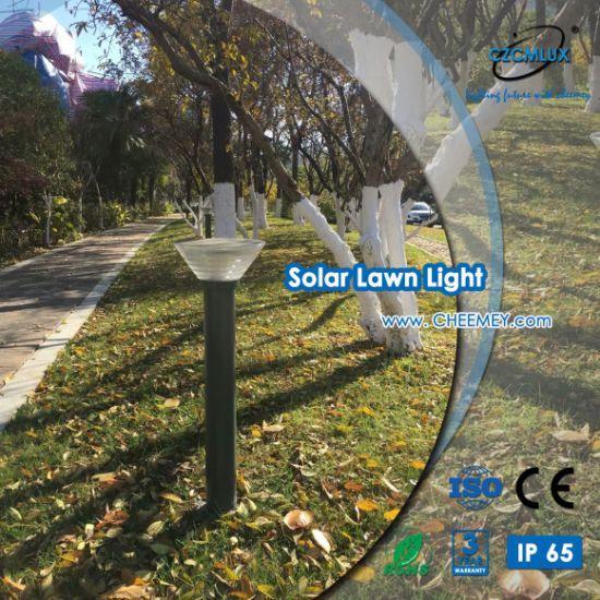 3-5 Years Warranty Aluminum LED Solar Bollard Light for Garden