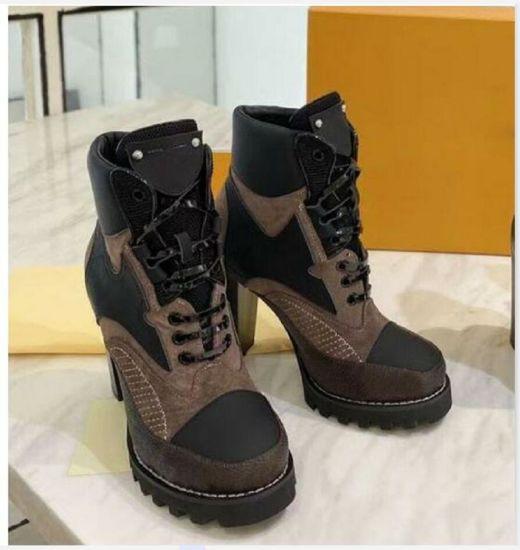 High Heeled Martin Boots Winter Coarse Heel Woman Shoes Desert Boots