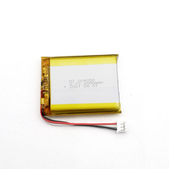 Warehouse Medical Device Lipo Battery 3.7V 804050 2000mAh Rechargeable Polymer Lithium Battery