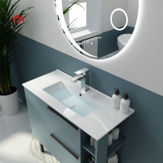 China Junyi Ceramic Thin Edge Rectangular Wash Basin Narrow Edge 36cm Width Bathroom Cabinet Basin Wash Basin China Thin Edge Basin Sink