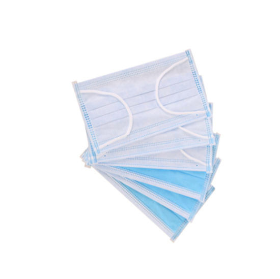 Ce Certification Disposable Face Mask Thickened 3 Layer Non-Woven Protective Mask Fast Delivery