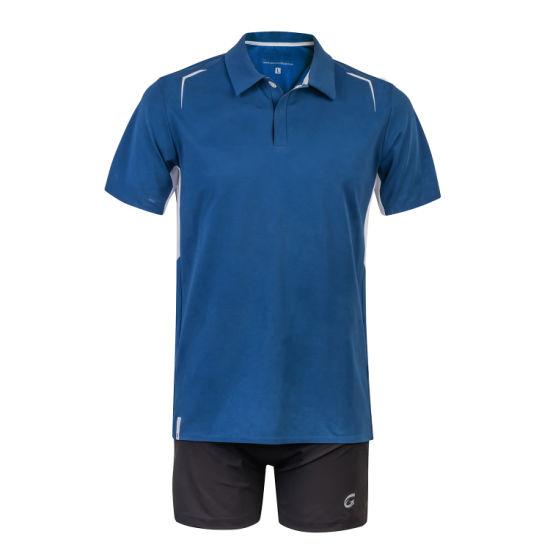 Polyester Golf Button Closed Wholesale Blue Xxxl Polo Shirts