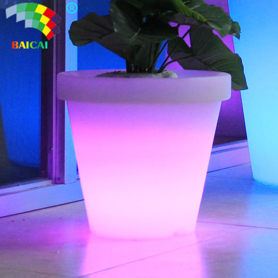 Waterproof Plastic Large LED Flower Pot