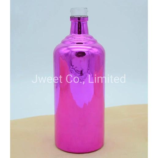 Custom Lead-Free Crystal Glass Paint Colors 1750ml Tequila Wine Bottle
