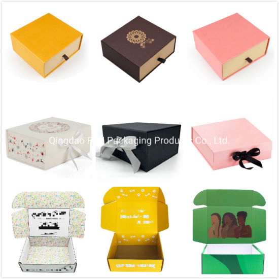 Custom Cardboard Folding Rigid Gift Flower Cosmetic Packaging Carton Corrugated Shipping Paper Magnet Boxes for Watch Shoes Perfume Candle Wine Chocolate