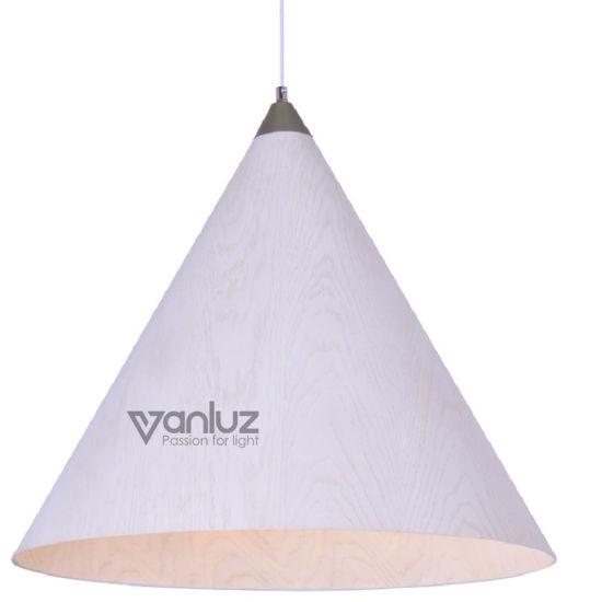 White Wood Pendant Lamps Indoor Pendant Fixture for Living Room Restaurant Indoor