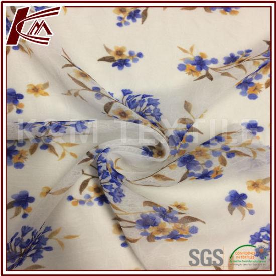 China Salt Shrinkage Print Flower Pattern 100% Polyester