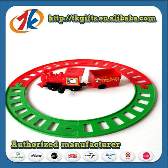 Interesting Plastic Mini Train Toy and Pathway Wind up Train Toy