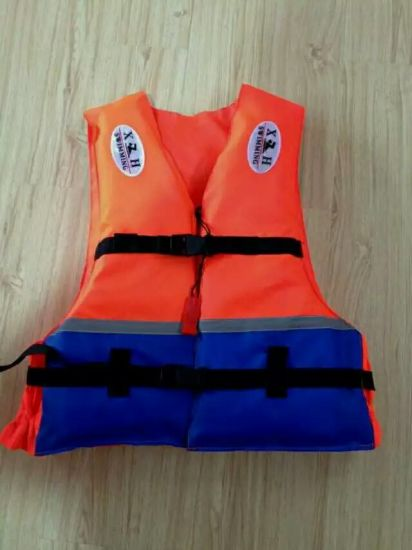 Polyethylene Foam Life Jacket (BLUE/Orange) .