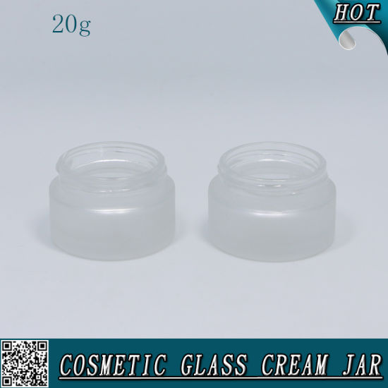 20ml Frosted Glass Container Empty Glass Jar for Face Cream pictures & photos