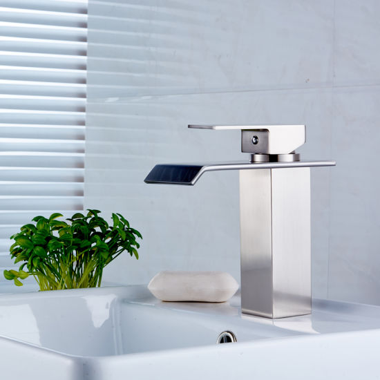 Deck Mounted Square Waterfall Sink Faucet pictures & photos