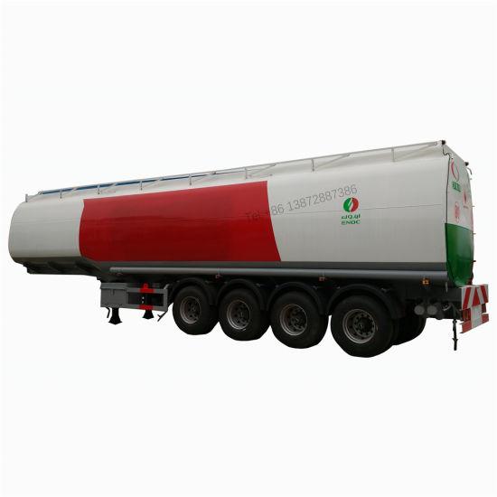 4 Axles Oil Tank Trailer 45000liters 50000liters 60000liters Mobile Trailer Fuel Tank