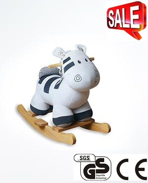 Child Safe Stuffed Animal Horse Toys Rocking Horse for Baby Ca-Ra01 pictures & photos