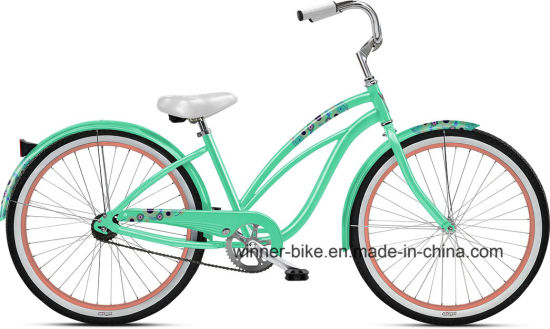 Classic Steel Frame 26 ′′ Lady′s Beach Cruiser Beach Bike pictures & photos