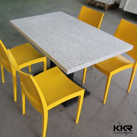 China Restaurant Furniture Corian Solid Surface Dining Table China - Corian restaurant table tops