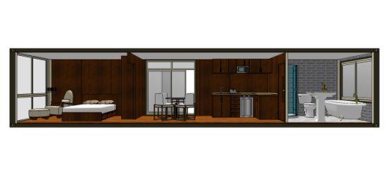 China 40ft modular prefabricated shipping container house - 40ft shipping container home ...