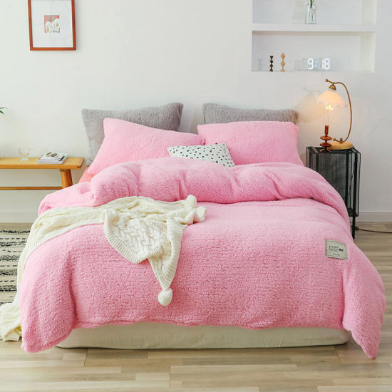 Fleece TEDDY BEAR Quilt Duvet Cover Pillowcase Warm Cozy Thermal Winter Snuggle