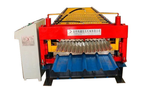 Dixin Trapezoidal and Corrugated Double Layer Roll Forming Machine pictures & photos