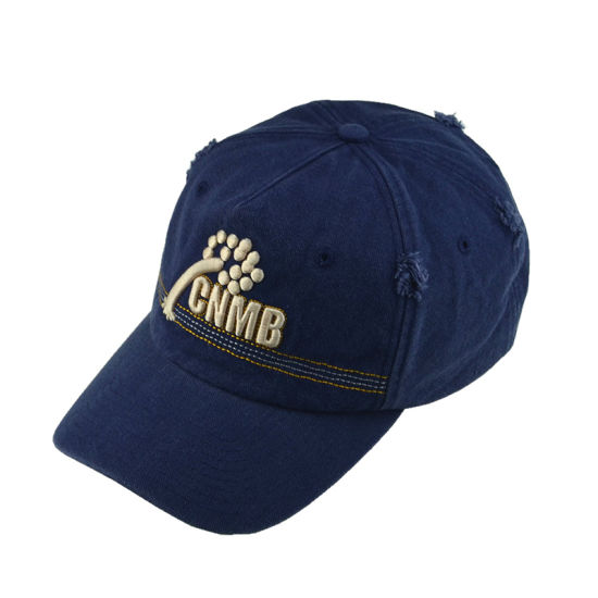 bd25bdc716a Custom Blue 6 Panels Sports Hat Cotton Washed Promotional Cap Unstructured Baseball  Hat Dad Hat