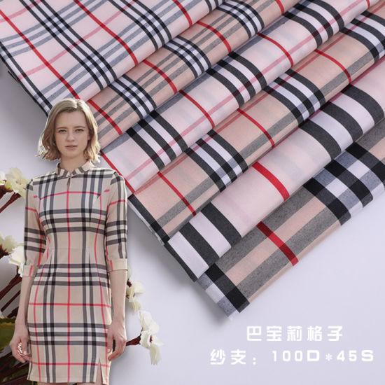 Burberry Fashion Lady Dress Blouses Check Fabric