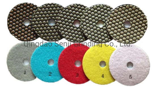 5 Step Wet Dry Resin Diamond Polishing Pad for Concrete 4 Inch