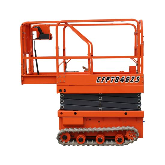 Mini Hydraulic Crawler Tracked Electric Battery Charger Scissor Lift