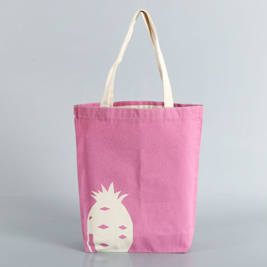 Promotional Natural Canvas Tote Bag Stock Cotton Groceries Bags Wholesale Plain Reusable Tote Shopping Bags