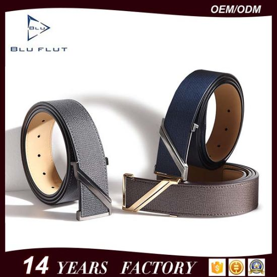 New Z-Letter Buckle Men Leather Belts with High Quality Factory