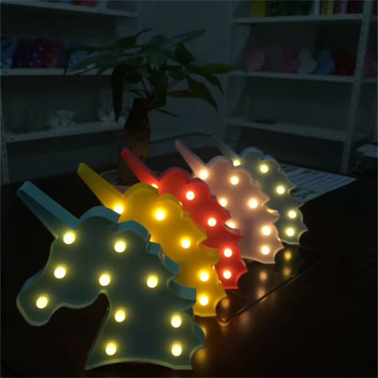 Children Gift Home Decoration Unicorn Shape LED Marquee Sign Night Light pictures & photos
