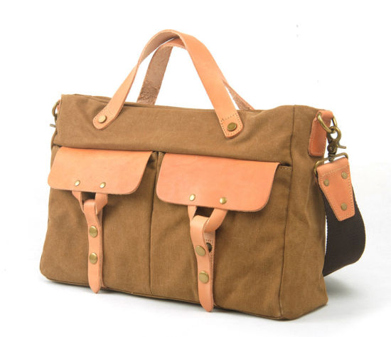 Canvas Men′s Leather Traveling Hand Bags (RS-1930) pictures & photos