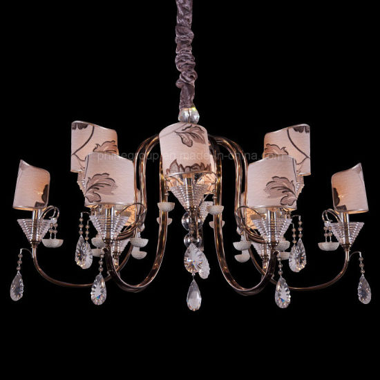China Factory Outlet Cloth Lampshade Bar Crystal Fixture