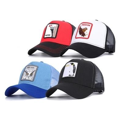 Custom Baseball 3D Embroidery Logo Trucker Mesh Baseball Cap with Metal Buckle
