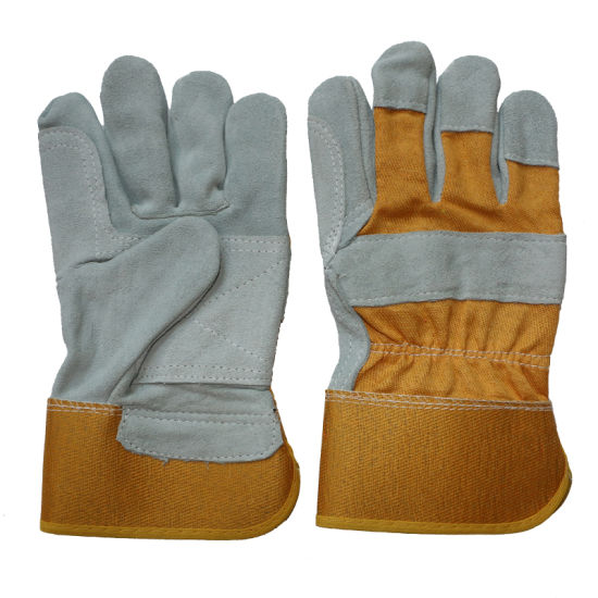 Cowhide Split Leather Work Gloves for Workers pictures & photos