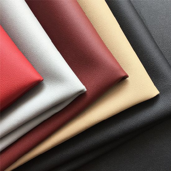 Genunine Leather Texture Madas PU Coated Faux Microfiber Leather for Car Seat Auto Interior Furniture Bag pictures & photos