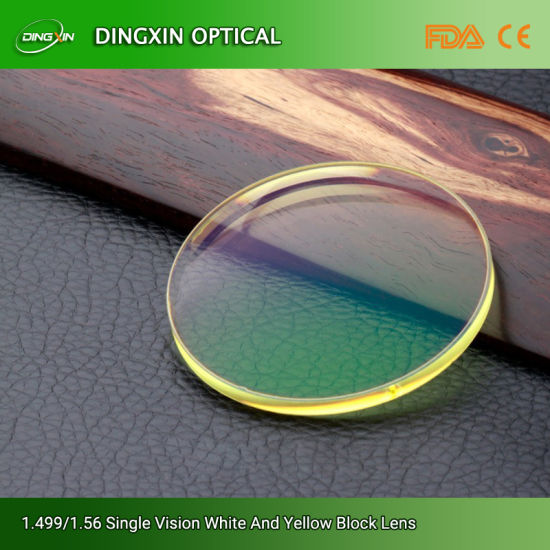 Factory Good Quality Finished Cr-39 1.499 Hmc Single Vision Optical Lens
